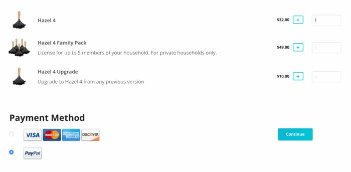 Hazelの購入はライセンスファイルを取得