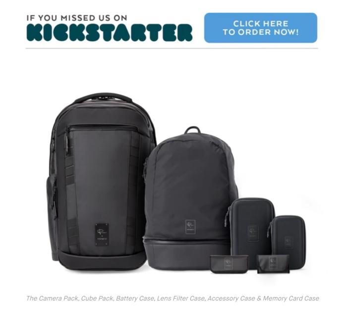 クラウドファンディングサイト「Kickstarter」から生まれたカメラバッグ The Camera Pack:PeterMcKinnon x NOMATIC