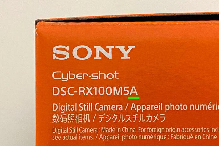 SONY RX100M5Aカメラ